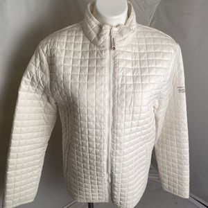 DKNY Active white quilted lightweight zip jacket L